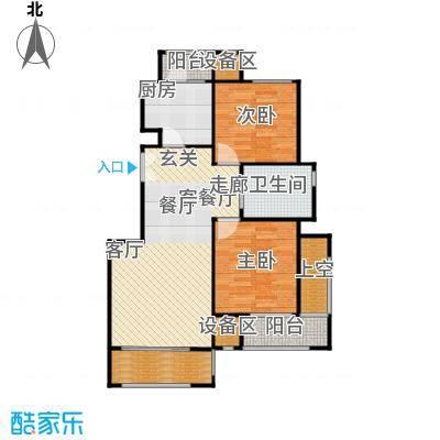 阿凯笛亚别苑H两室两厅一卫户型