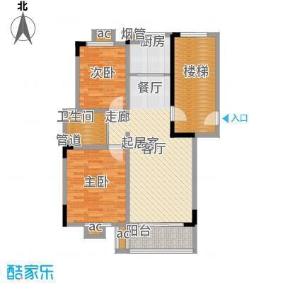 天骄俊园88.00㎡二室二厅二卫户型
