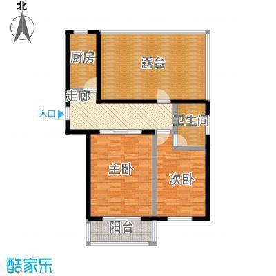 城铁边上的家75.80㎡一室二厅一卫户型