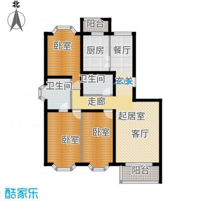 顺鑫澜庭120.62㎡J户型10室