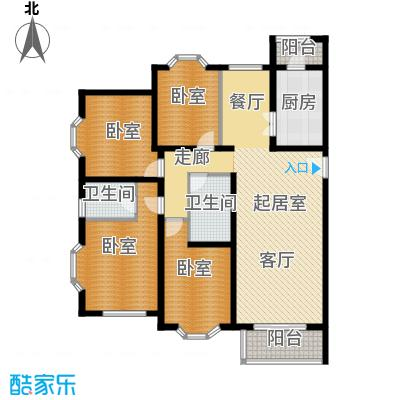 顺鑫澜庭134.49㎡K户型10室