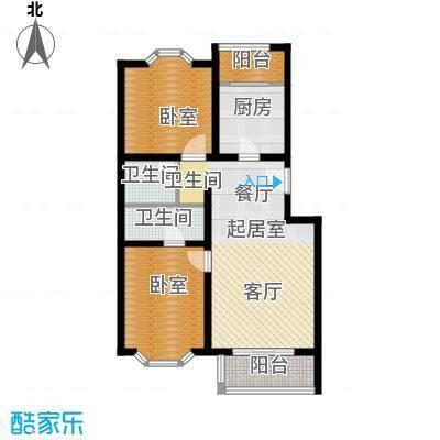 顺鑫澜庭85.03㎡B户型10室