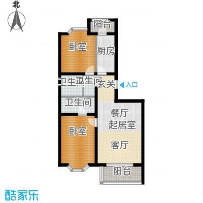 顺鑫澜庭83.68㎡L户型10室