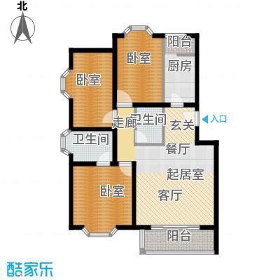 顺鑫澜庭104.89㎡F户型10室