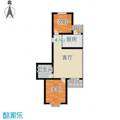金鑫苑小区91.00㎡B2户型2室1厅1卫