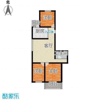 金鑫苑小区106.00㎡A1户型3室1厅1卫