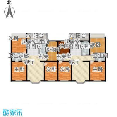马坡花园114.64㎡三室两厅两卫户型