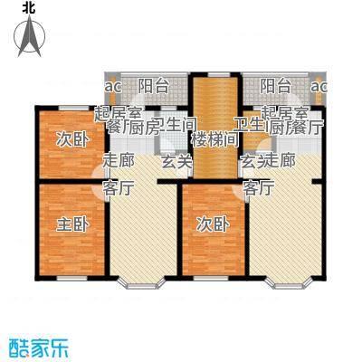马坡花园63.20㎡一室两厅一卫户型
