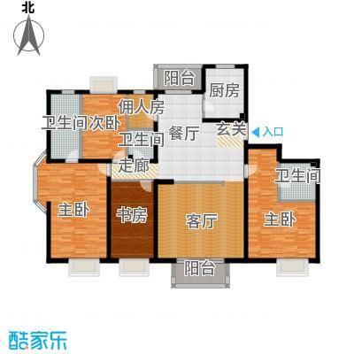 2U・香花畦223.60㎡H户型四室两厅三卫户型
