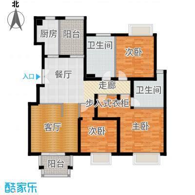 2U・香花畦142.12㎡B户型三室两厅两卫户型