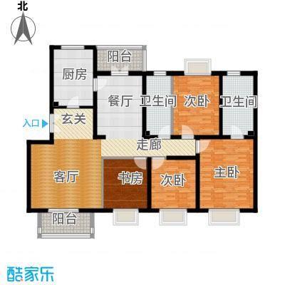 2U・香花畦178.11㎡F户型四室两厅两卫户型