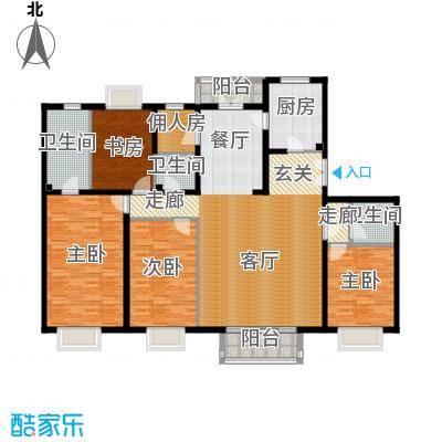 2U・香花畦190.61㎡G户型四室两厅三卫户型