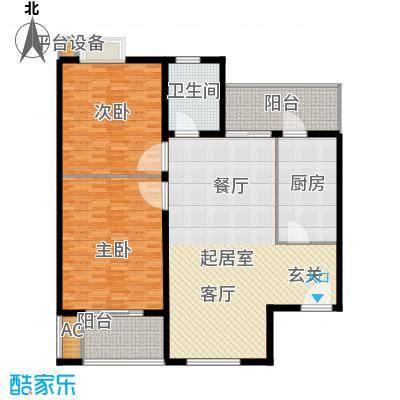 新国展国际公寓84.53㎡B4户型二室二厅一卫户型