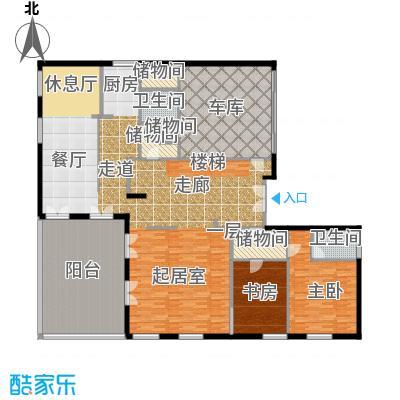moma万万树(二期)229.45㎡二期c一层户型2室2卫
