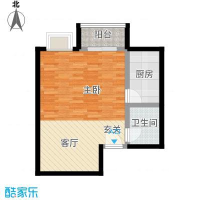 书香名邸48.79㎡三期11#甲S11一室一卫户型