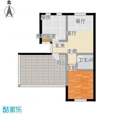 书香名邸四期善缘紫檀4号楼2单元一室一卫户型