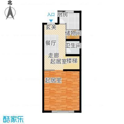 尚东庭72.91㎡A区A3号楼2单元一层户型1卫1厨