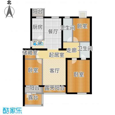 阿尔法社区135.00㎡二期花园洋房东2层户型10室