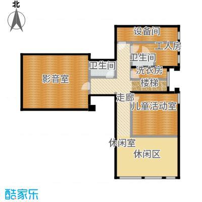 北京御墅142.18㎡Aa地下一层户型2卫