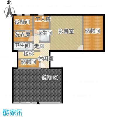 北京御墅132.27㎡C地下室平面图户型2卫