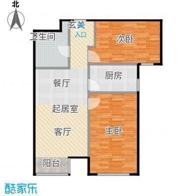 京汉铂寓(顺义)86.84㎡H1/H1反户型2室1卫1厨