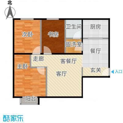 京汉铂寓(顺义)90.36㎡D区A-01户型10室