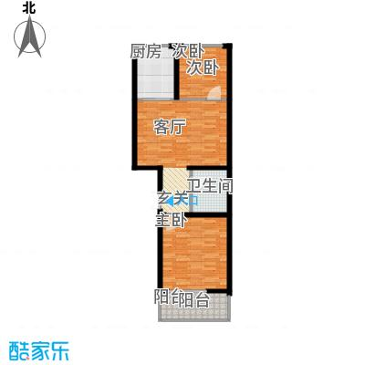 尚北青年公寓(鑫基家属小区)65.18㎡户型2室1厅1卫