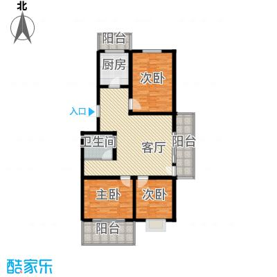 尚北青年公寓(鑫基家属小区)C户型3室1厅1卫1厨