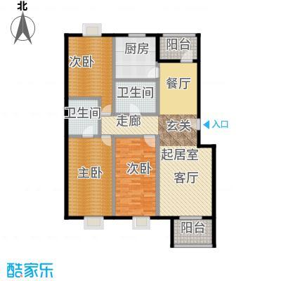 嘉筑北京124.78㎡C面积户型10室