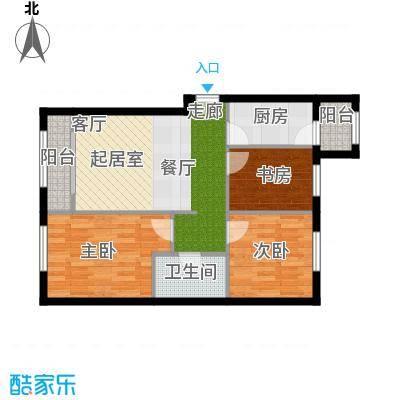 溪城家园65.08㎡C1-Z户型3室1卫1厨