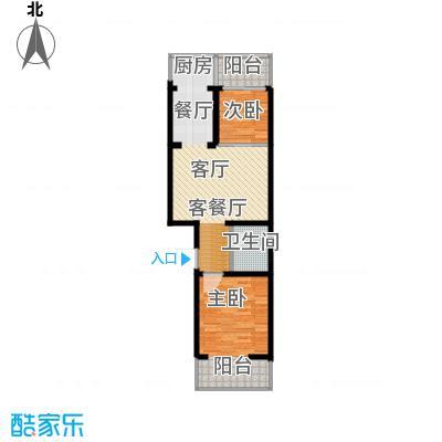 尚北青年公寓(鑫基家属小区)69.92㎡A户型2室1厅1卫