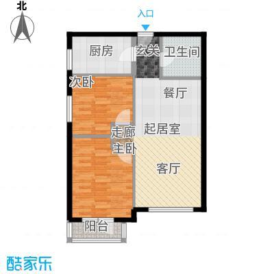 首开智慧社85.00㎡1号楼A3户型2室2厅1卫