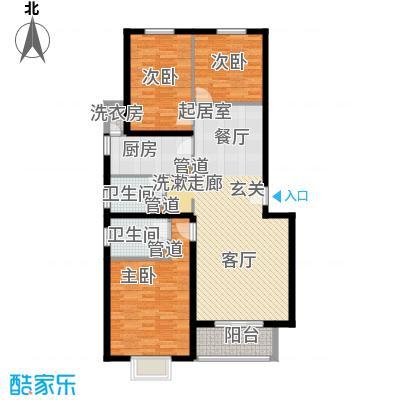 紫金新干线120.26㎡C5三室两厅两卫户型