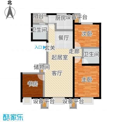 北京北三室二厅二卫户型