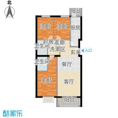 紫金新干线130.01㎡C6三室两厅两卫户型