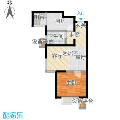 北京北60.00㎡A2户型一室一厅一卫户型