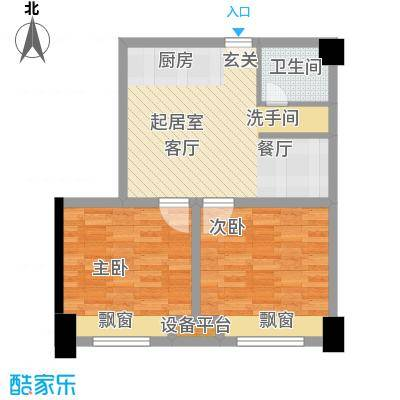 金科VISAR国际5#-D-户型2室1卫
