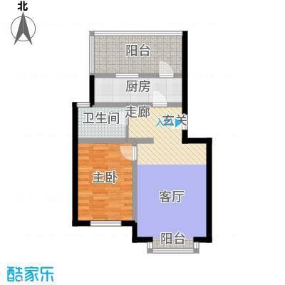祥和乐园66.95㎡一室一厅一卫户型