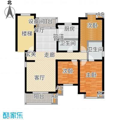 北京人家136.86㎡三室二厅二卫户型