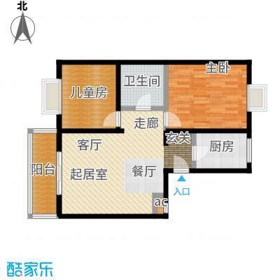 天鑫家园(格林雅地)83.88㎡两室一厅一卫户型