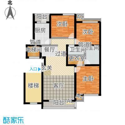 北京人家131.02㎡D户型3室2厅2卫户型