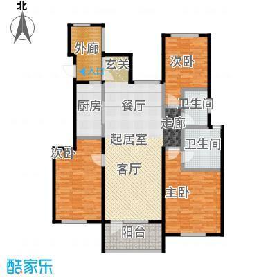 金融街・金色漫香苑140.00㎡户型3室2卫1厨