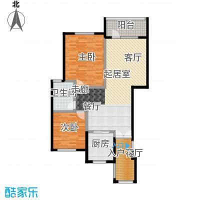 金融街・金色漫香苑97.00㎡户型2室1卫1厨