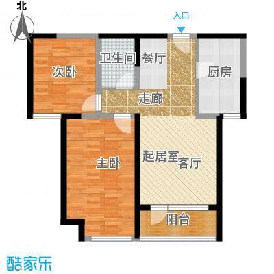 华业东方玫瑰90.00㎡瑞秀阁D8-02户型2室1卫1厨