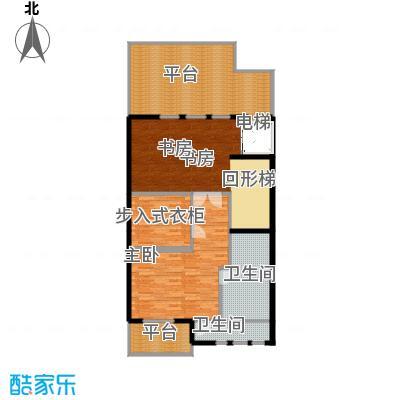 京基・鹭府B2联排别墅三层户型2室2卫