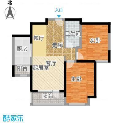 华业东方玫瑰90.00㎡A9-1-04户型2室1卫1厨