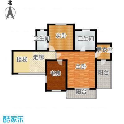 珠江紫宸山133.93㎡K04三层户型10室
