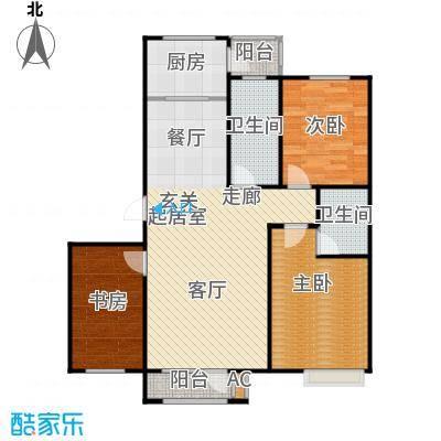 浪琴湾106.00㎡三室二厅二卫户型
