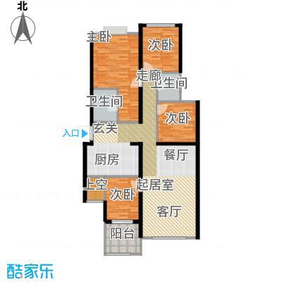 璧山金科中央公园城123.00㎡4.5.6幢 二层 四室两厅两卫 赠送面积10平米户型4室2厅2卫