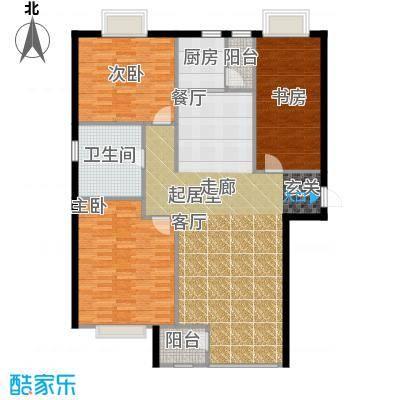 金广君悦山123.00㎡三室二厅一卫户型